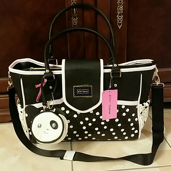 3e8548f633a1 Betsey Johnson Accessories | Diaper Bag With Changing Pad | Poshmark